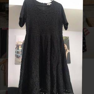 Downeast black lace dress